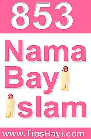 853 Nama Bayi Islam Sampul Buku