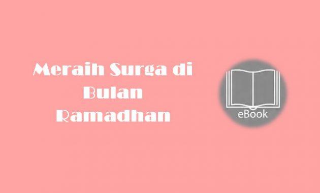 Ebook Meraih Surga di Bulan Ramadhan