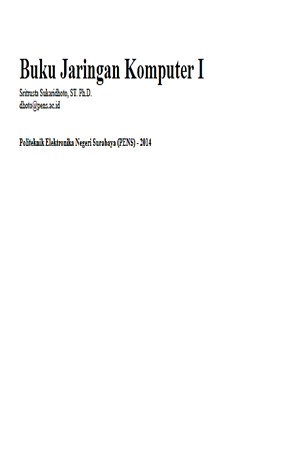 Jaringan Komputer 1 Sampul Buku