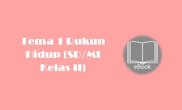 Ebook Tema 1 Rukun Hidup (SDMI Kelas II)