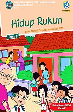 Tema 1 Rukun Hidup (SD/MI Kelas II) Sampul Buku