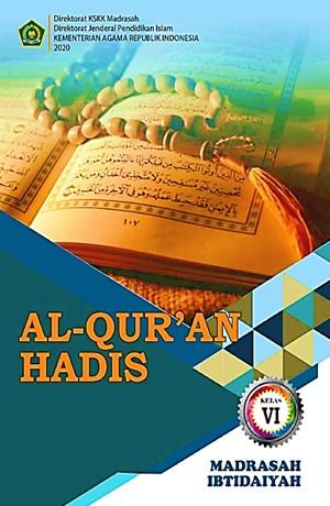 AL-QUR'AN HADIS (MI Kelas VI) Sampul Buku